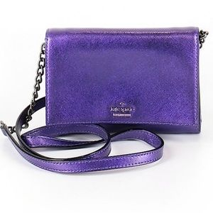NWOT Kate Spade Leather Purple Crossbody Bag